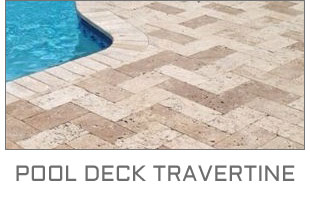 pool deck travertine
