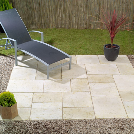 Paving Travertine Random Patio Kit