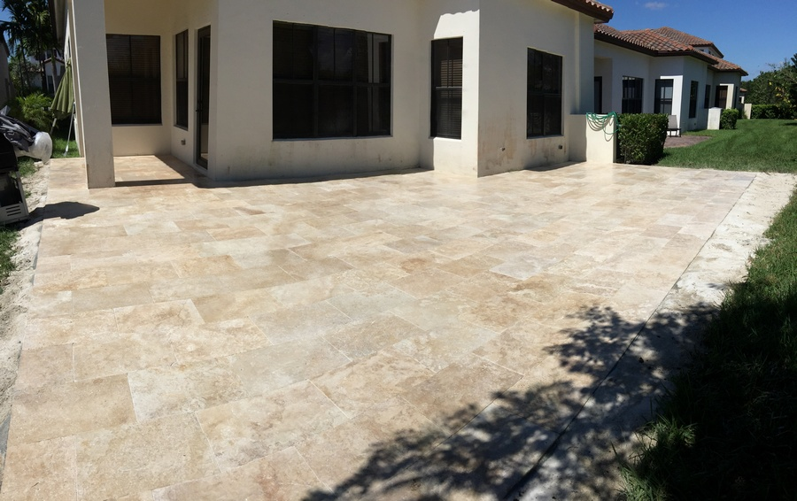 Travertine Pavers All Seal Exteriors Your 1 Choice In