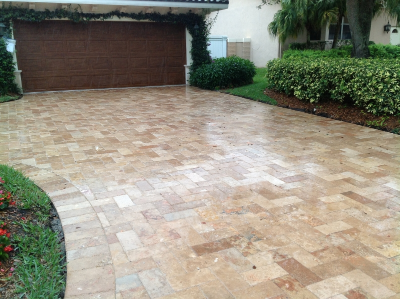 Travertine Flooring Installations Driveway Pavers Marble