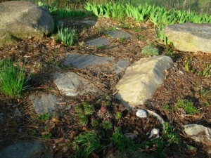 Home's Curb Appeal With Rocks
