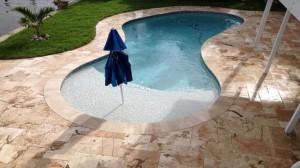Travertine Pavers Swimming Pool Deck