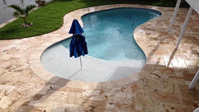 Travertine Pavers Swimming Pool Deck