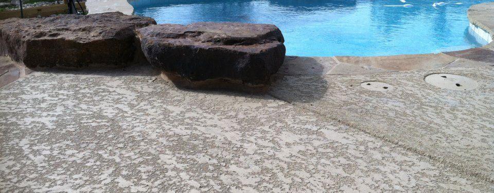 Spray-Deck Pool Deck